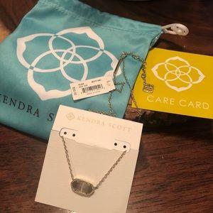 NWT Kendra Scott Elisa Gray Pendant Necklace
